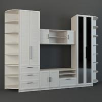 wall unit 3d max