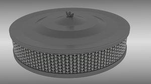 air filter 3d obj