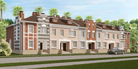 house town classical 3d model