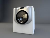 aqualtis washing machine 3d model