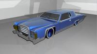 3d lowrider car blue