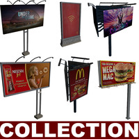 billboards rotated adv 3d model
