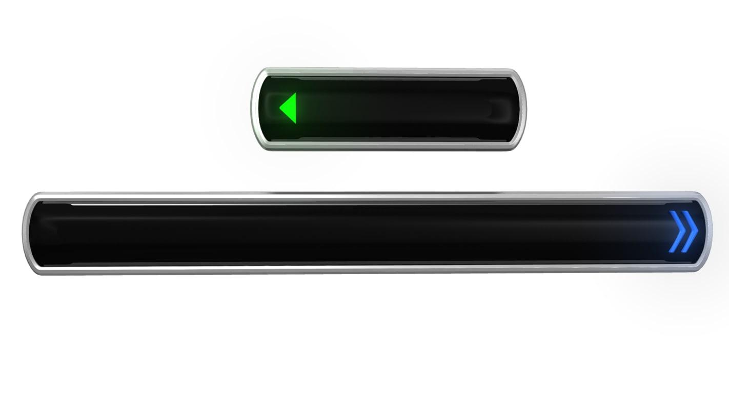 3d model menu button