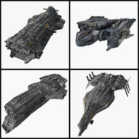 SciFi SpaceShips Collection