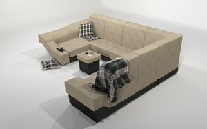 3d luxurious couch weitao furniture