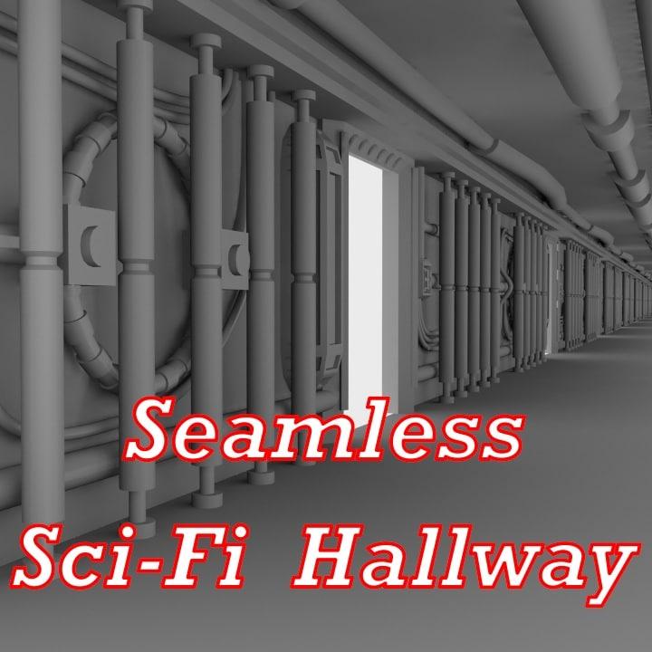 maya seamless sci-fi wall