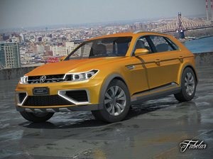 3d volkswagen crossblue coupè model