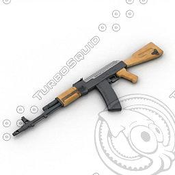 3ds max gun ak 47
