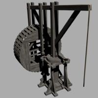 medieval crane 3d 3ds