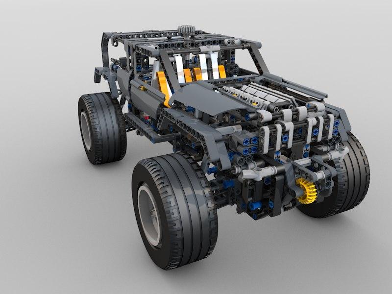 Technics 8297 Rigged 3d Model