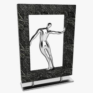 3d framed man figure