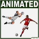 White Soccer Player and White Soccer Goalkeeper CG