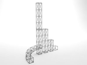 3ds max girders exhibition stands