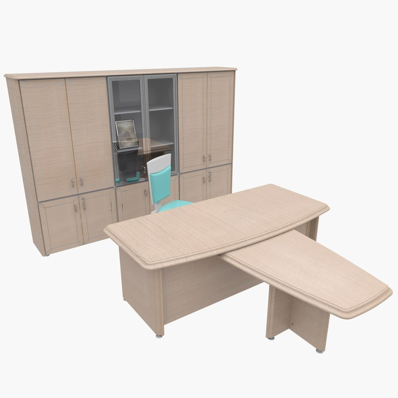office furniture chair table 3d model