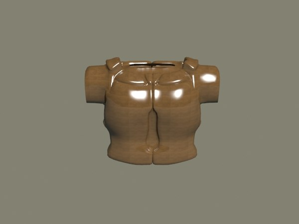 leather armour 3d model