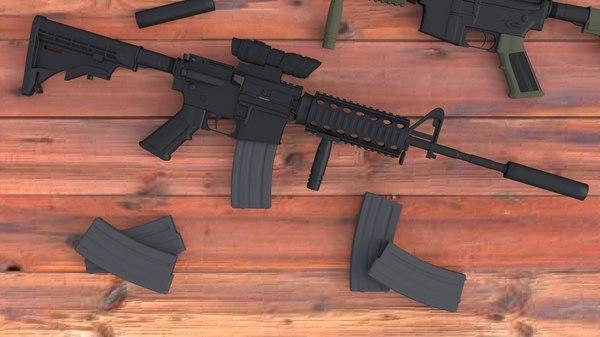 3d model m4a1 scope