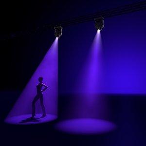 3d model professional moving light