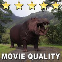 movie hippopotamus 3d obj