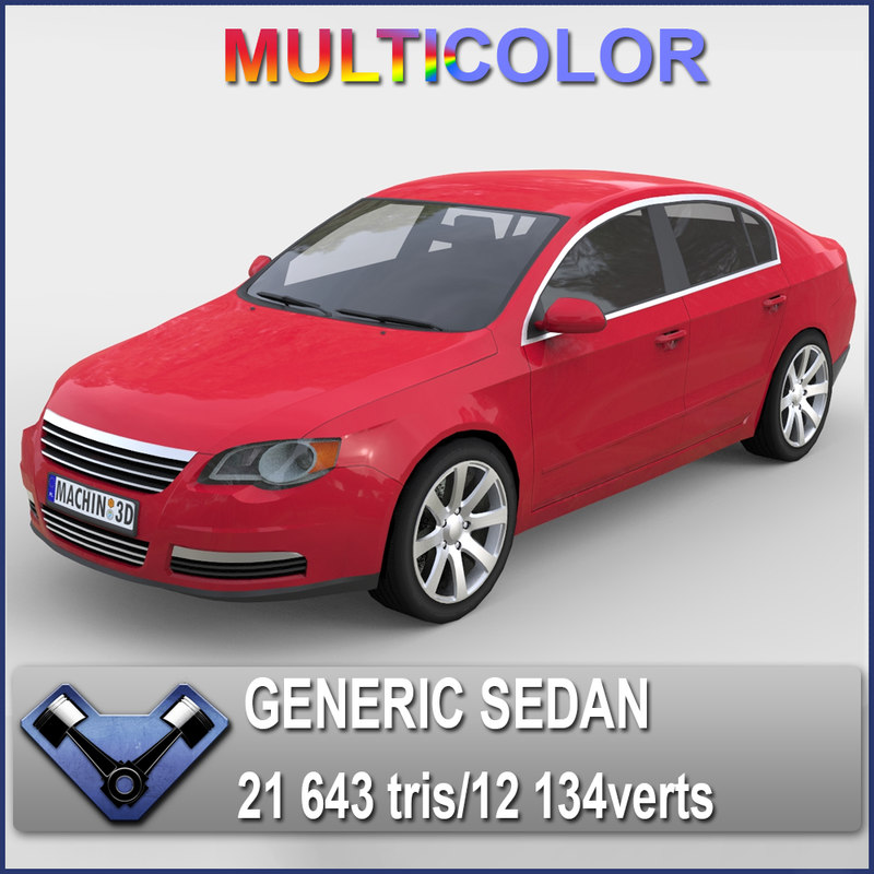 3ds generic sedan monsun