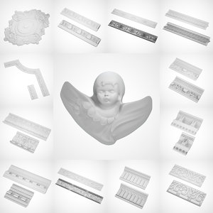 3d colection ceiling decoration model