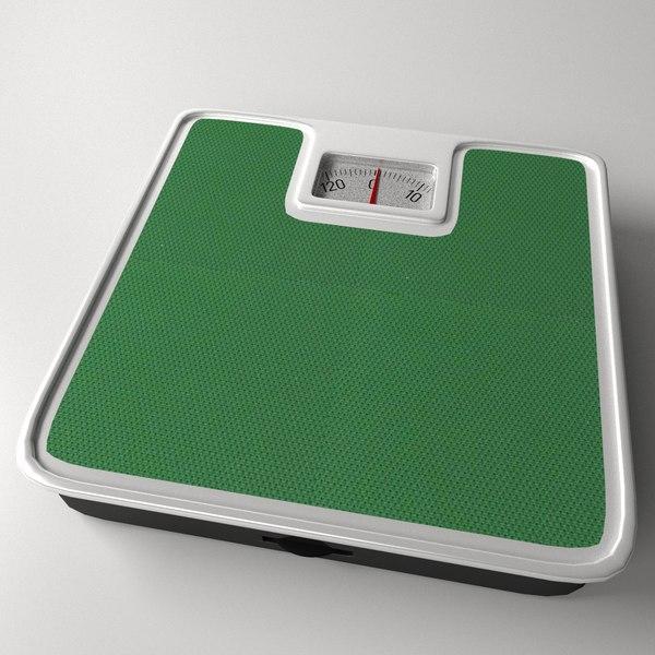 bathroom scales 3d model