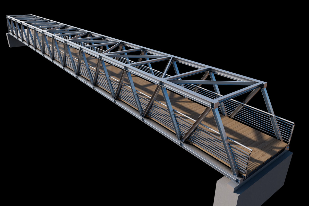 3d model bridge city