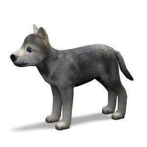 wolf puppy obj