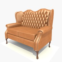 3d seater classic sofa chair model