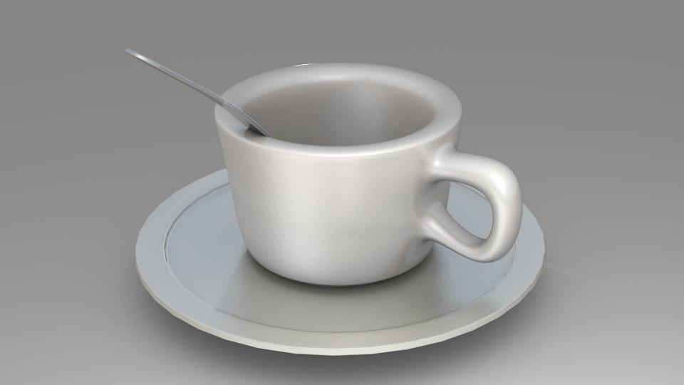 cup plate 3d blend