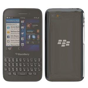 3d model blackberry q5 black