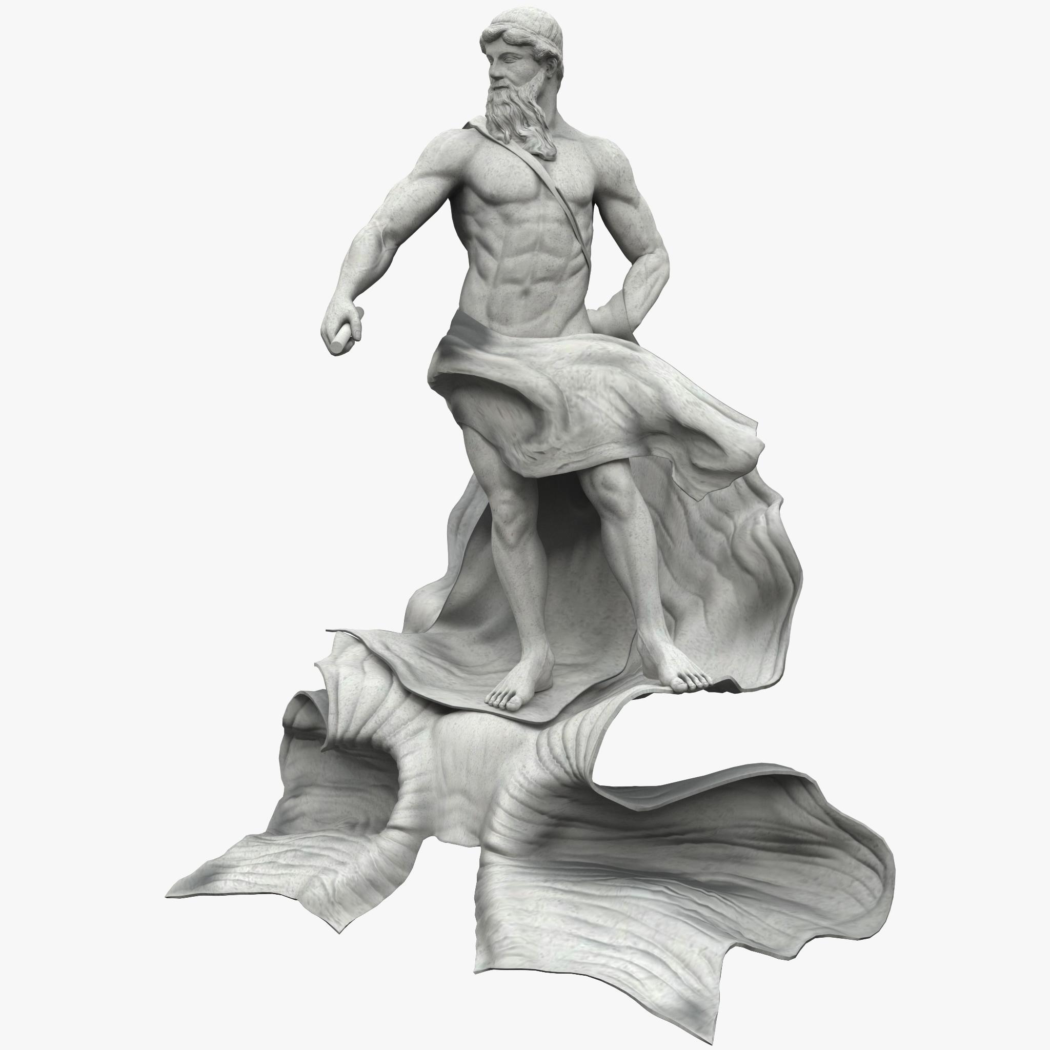 3d model oceanus statue