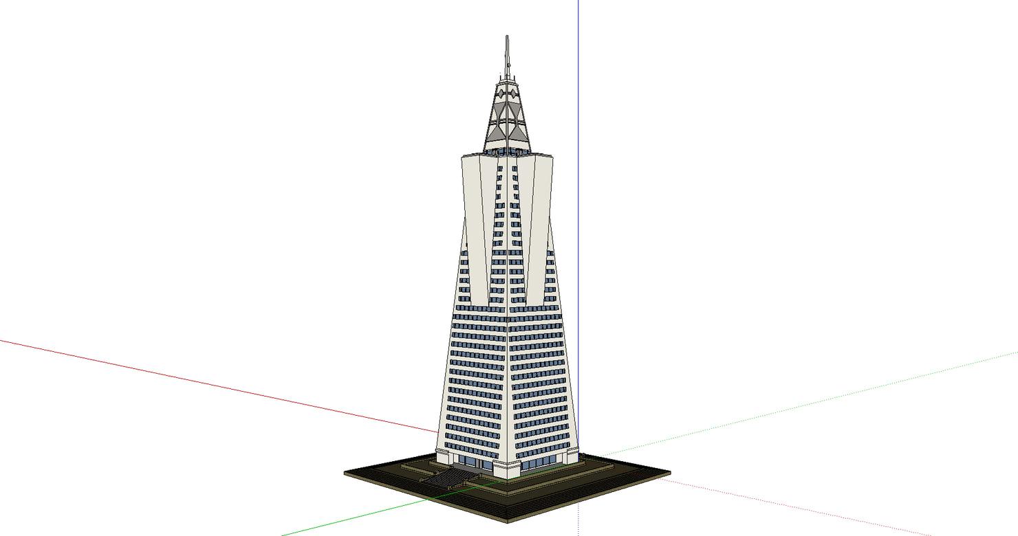 3d skyscraper san model