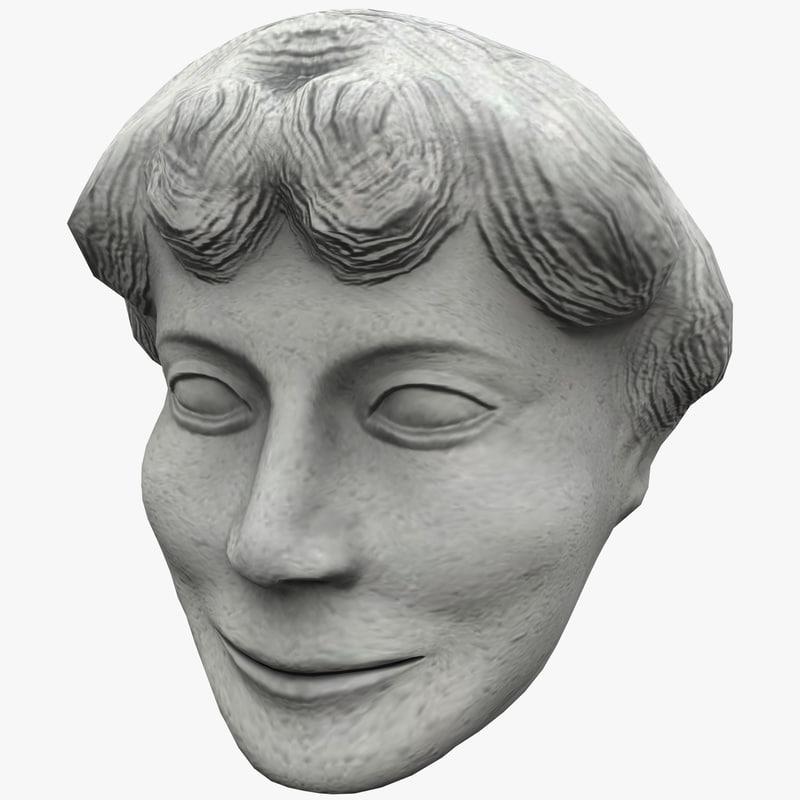3d satyr face statue 5