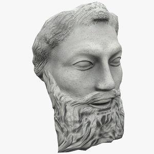 satyr face statue 3d model