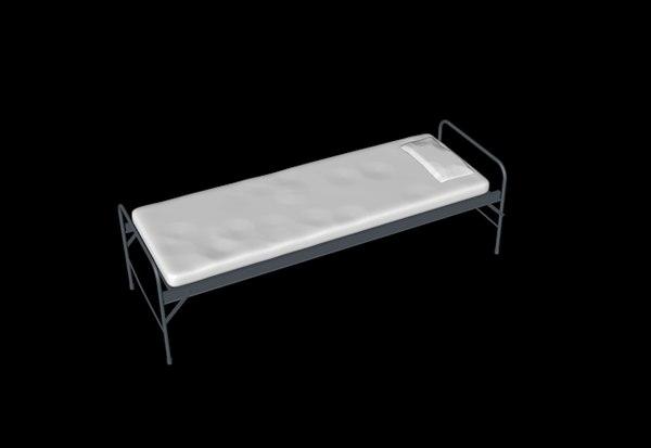 3d bed cot model