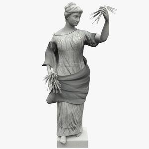 woman wheat statue max