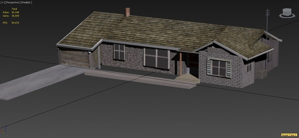 3d house small simple model