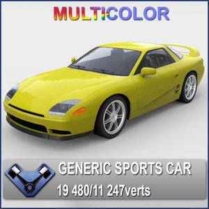 max generic sports car sakura