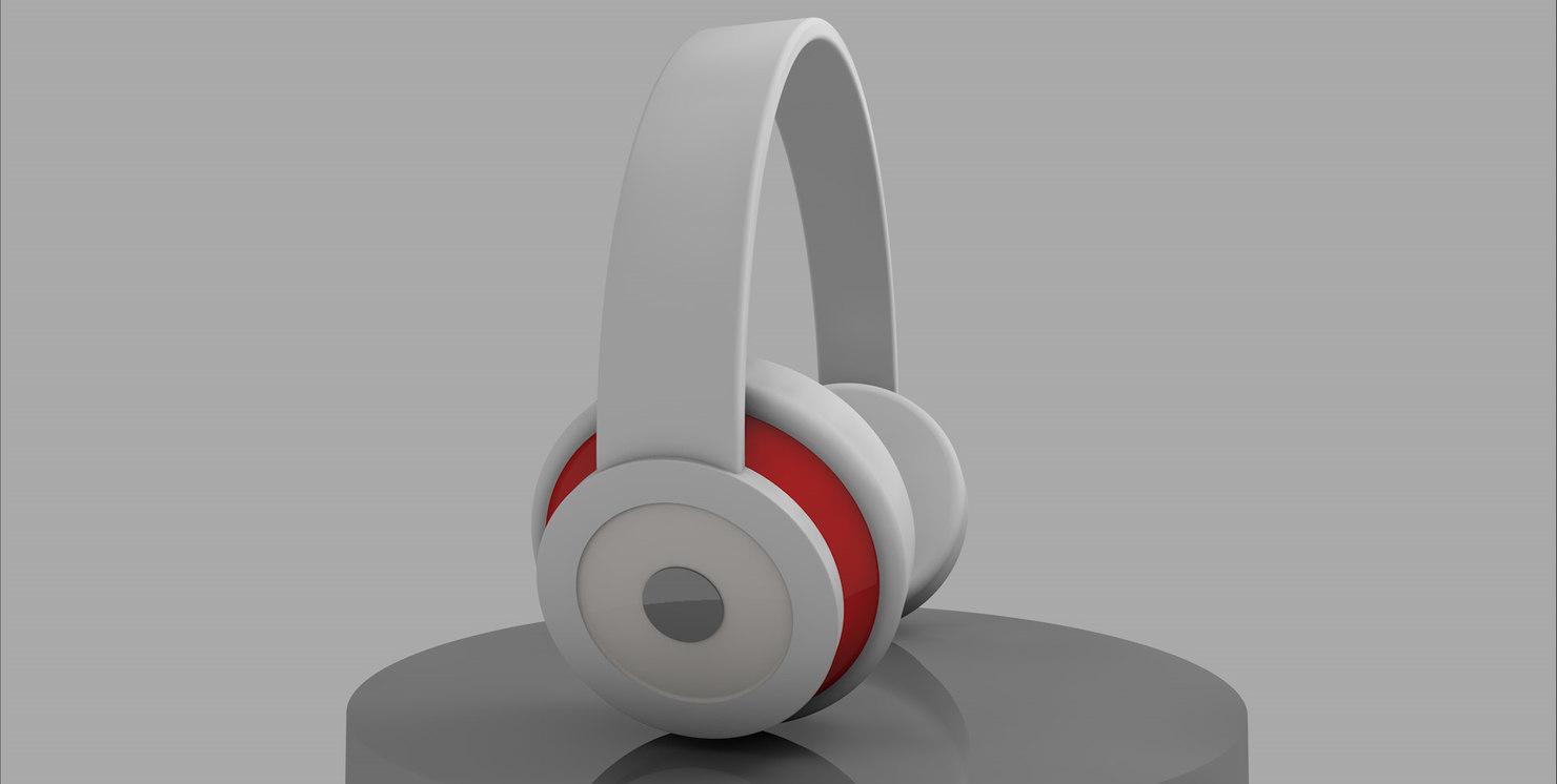 white headphones splendor 3d model