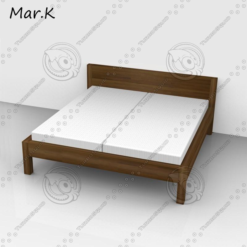 morgan double bed obj