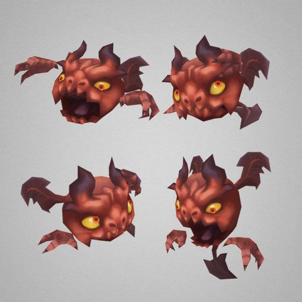 3d model of micro demon
