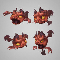 3d model of micro demon