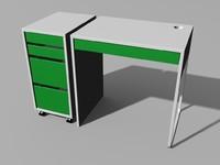 3d small computer desk