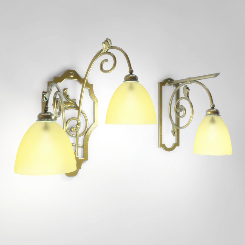 forged wall lamps 3d model