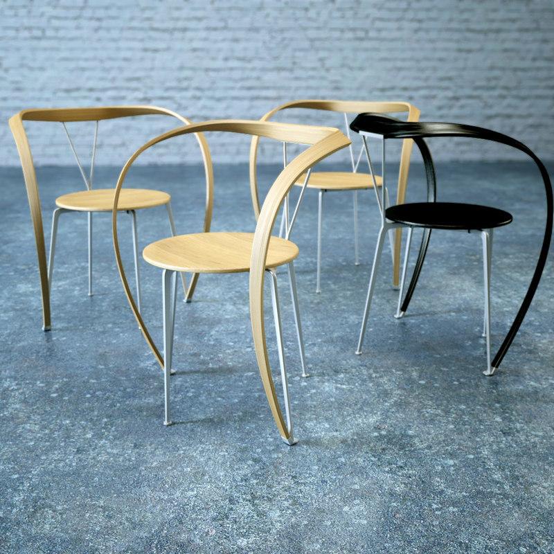 3d model of revers chair