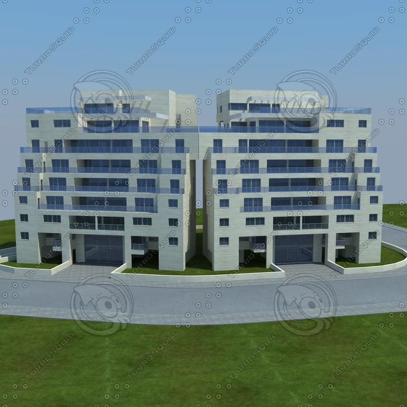 buildings 2 1 3d obj
