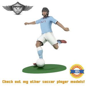 figurine soccer 3d max
