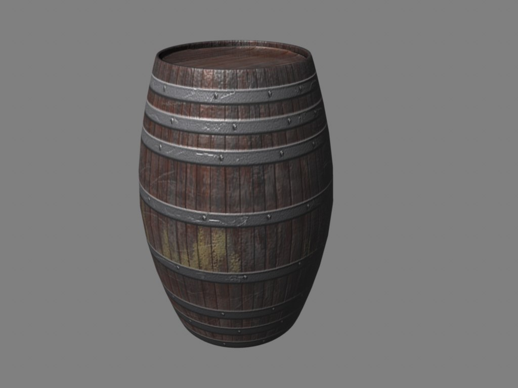 3ds max barrel medieval