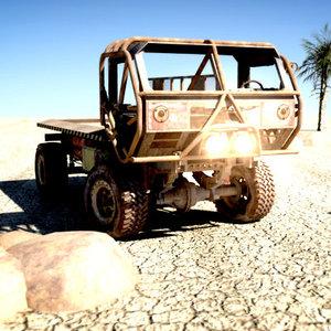3d heist truck model
