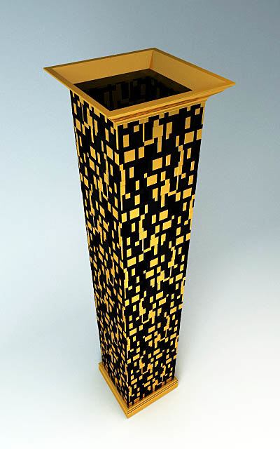 3d column decor mosaic model